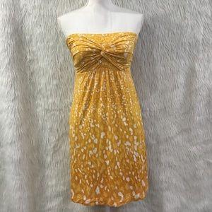 Soma yellow animal print lounge dress